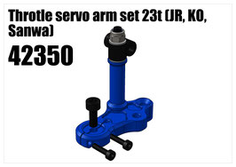 Alloy Throttle servo arm set 23t (JR, KO, Sanwa)