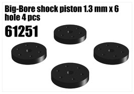 Big-Bore shock piston 1.3 mm x 6 hole 4 pcs