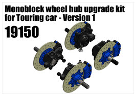 Monoblock wheel hub upgrade kit for Touring car - Version 1