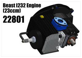 Engine Combo for XT Touring Car Chassis kit Beast I232 engine (23ccm) (internal ignition version)