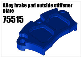 Alloy brake pad outside stiffener plate