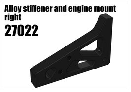 Alloy stiffener and engine mount right