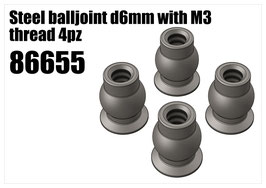 Steel balljoint d6mm with M3 thread 4pcs