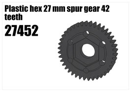 Plastic hex 27 mm spur gear 42 teeth