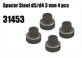 Steel d5/d4 spacer 3mm 4pcs