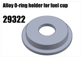 Alloy O-ring holder for fuel cup
