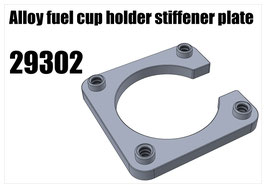 Alloy fuel cup holder stiffener plate