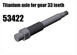 Titanium axle for gear 33 teeth