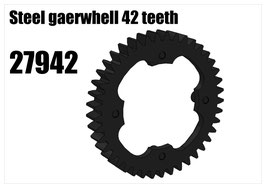 Steel gearwhell 42 teeth