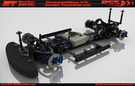 XT 2019 Touring Car Chassis kit with Zenoah engine fixing kit (27180, 27146, 27115)