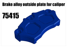 Brake alloy outside plate for caliper