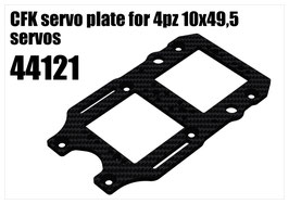 CFK servo plate for 4pcs 10x49,5 servos