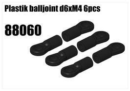 Plastik balljoint d6xM4 6 pcs