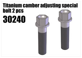 Steel camber adjusting screw short 2pcs