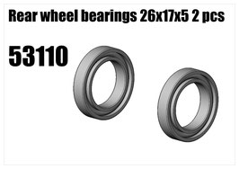 Wheel bearing 17x26x5 2pcs