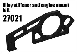 Alloy stiffener and engine mount left