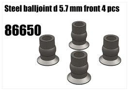 Steel balljoint d5.7mm 4pcs