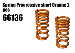 Spring Progressive short Orange 2pcs