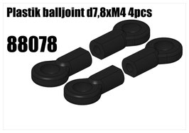 Plastik balljoint d7,8xM4 4pcs