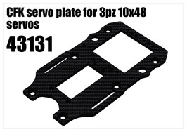 CFK servo plate for 3pcs 10x48 servos
