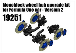 Monoblock wheel hub upgrade kit for Formula One car - Version 2
