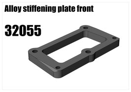 Alloy stiffener and wing fixing plate front