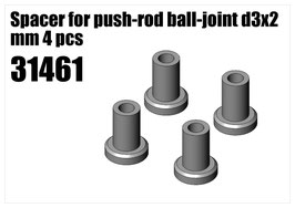 Steel Spacer for push-rod ball-joint d3x2 mm 4pcs