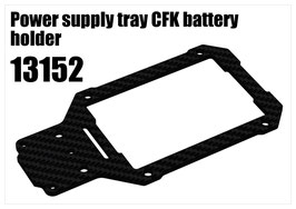 Power supply tray CFK battery holder