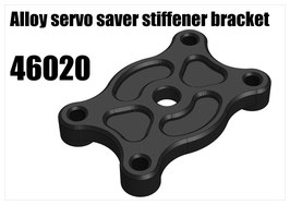 Alloy servo saver stiffener bracket