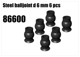 Steel balljoint d 6 mm 6pcs