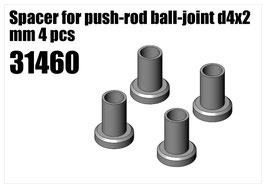Steel Spacer for push-rod d4x2 mm 4pcs