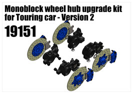 Monoblock wheel hub upgrade kit for Touring car - Version 2