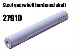 Steel gearwhell hardened shaft