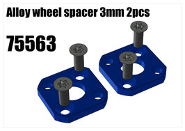 Alloy wheel spacer 3mm 2pcs