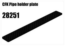 CFK Pipe holder plate