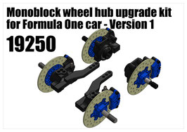 Monoblock wheel hub upgrade kit for Formula One car - Version 1