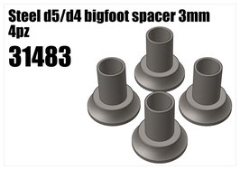 Steel d5/d4 bigfoot spacer 3mm 4pcs