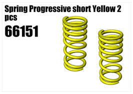 Spring Progressive short Yellow 2pcs