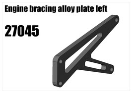 Engine bracing alloy plate left