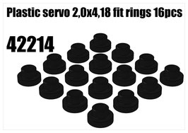 Plastic servo 2,0x4,18 fit rings 16pcs