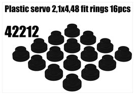 Plastic servo 2,1x4,48 fit rings 16pcs