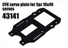 CFK servo plate for 3pcs 10x49 servos