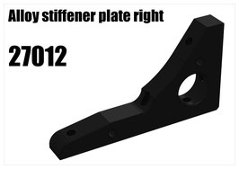 Alloy stiffener plate right