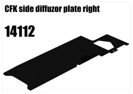 CFK side diffuzor plate right