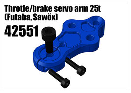 Alloy Throtle/brake servo arm 25t (Futaba, Sawöx)