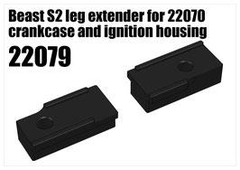 Beast S2 leg extender for 22070 crankcase