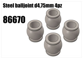 Steel balljoint d4,75mm 4pcs