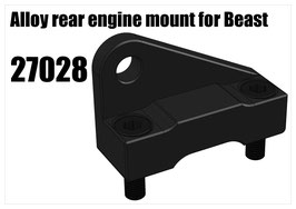 Alloy rear engine mount for Beast