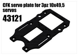 CFK servo plate for 3pcs 10x49,5 servos