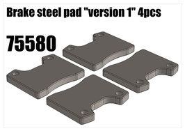 "Brake steel pad ""version 1"" 4pcs"